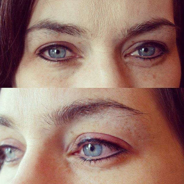 Semi permanent make up eyeliner top and bottom by @lizzymorbid