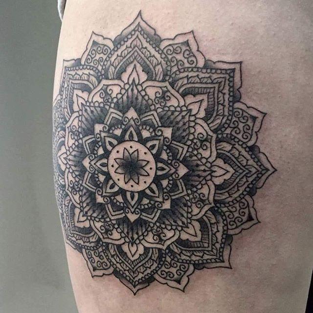 Mandala by @t.brookstattoos
