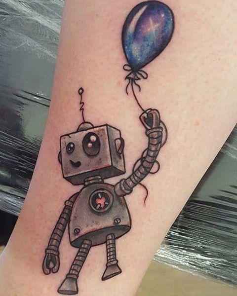 Super cute custom robot by @joshhingston11
