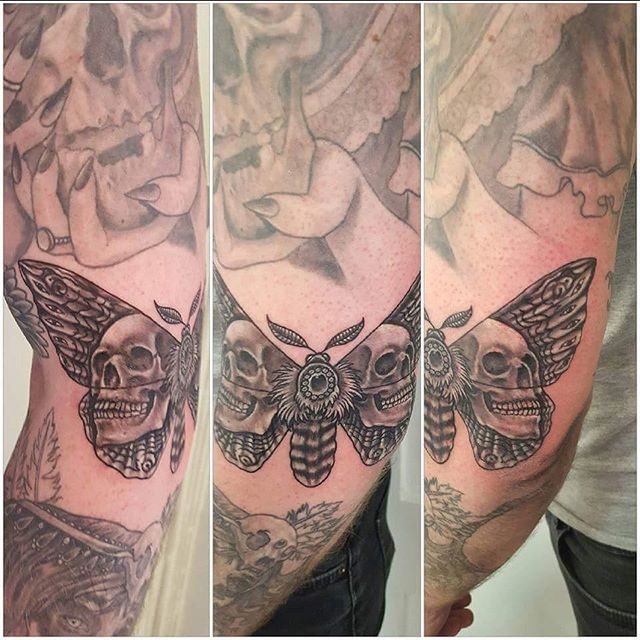 Fun skull moth on @j_romeo24