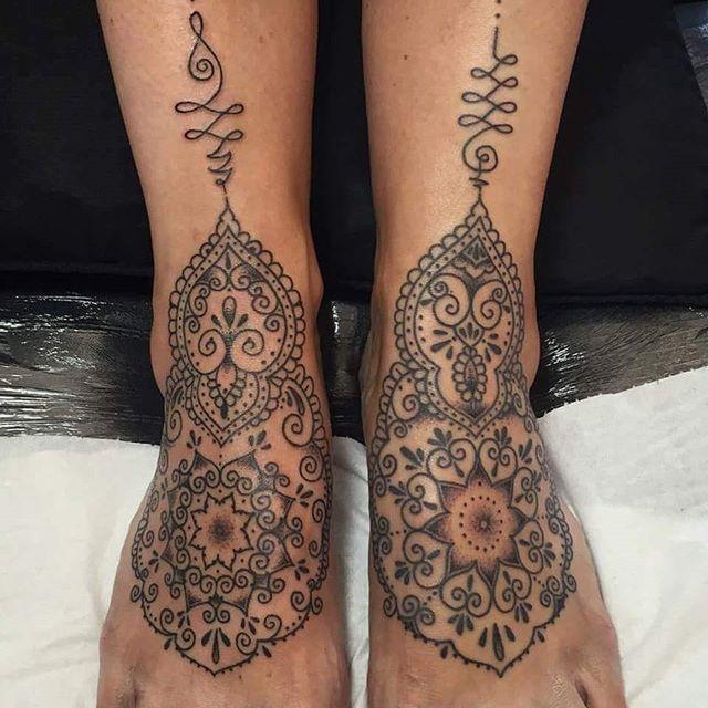 Beautiful feet tattoos by @t.brookstattoos