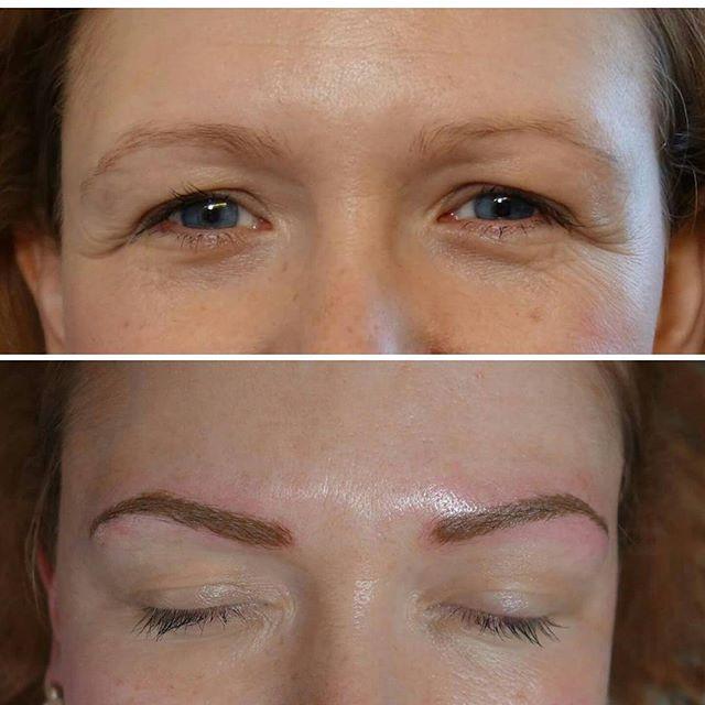 Permanent eyebrows by @lizzymorbid